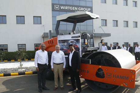 5,000th HAMM Compactor rolls out from the WIRTGEN INDIA Pune factory