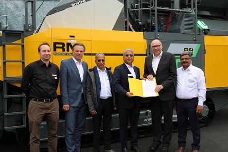 Schwing Stetter India joins forces with Rubble Master of Austria to enter the mobile compact crushing space