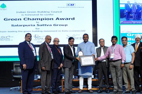 Salarpuria Sattva Group crowned with Green Champion Award by IGBC
