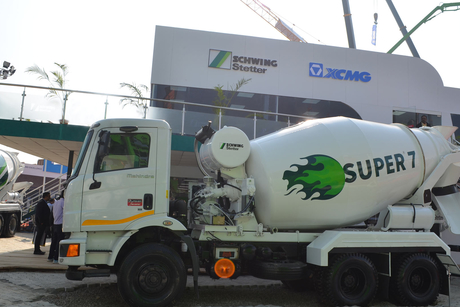 "Schwing Stetter launches premium variants of concrete truck mixers ""Super 7"", in partnership with Mahindra Powerol"