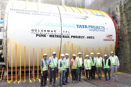 Tata Projects commences tunneling work on Pune Metro