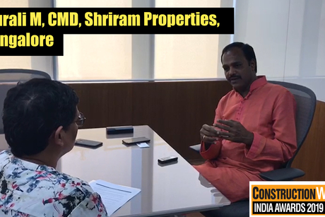 In conversation with Murali M, CMD, Shriram Properties, Bangalore, for the February cover story of Construction Week.