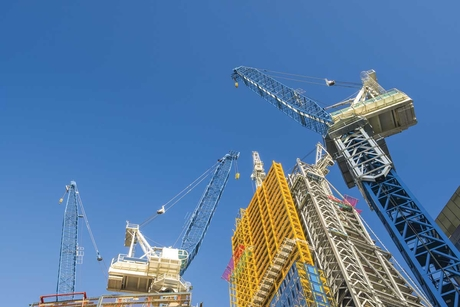 Tower cranes are developing the country's infrastructure