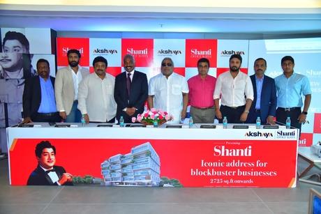 Akshaya announces the launch of 'Akshaya Shanti - Office Suites