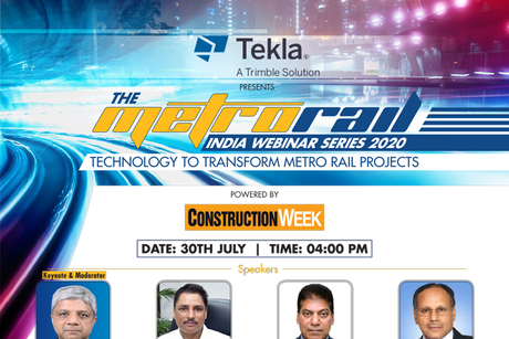Be a part of Tekla presents Metro Rail India Webinar Series 2020