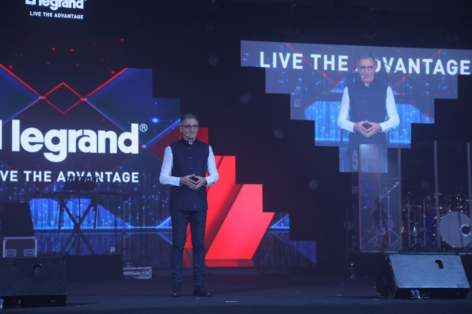 Jean Charles Thuard, CEO and MD, Legrand India, at the Eliot launch.