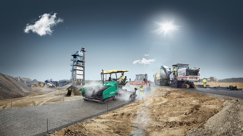 The group's exhibits at Bauma will be rounded out by a variety of different construction machines.