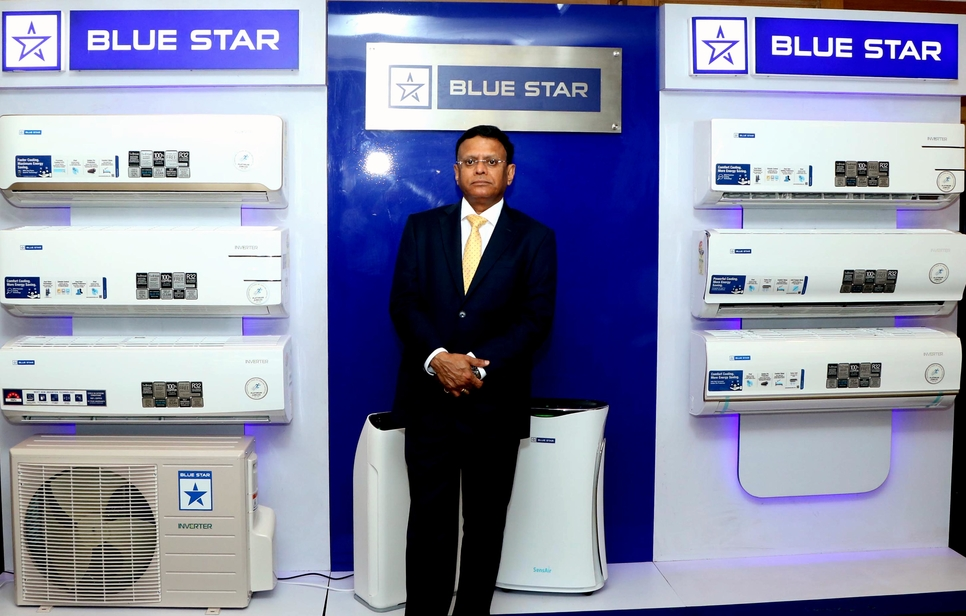 B Thiagarajan, joint MD, Blue Star, with the new range.