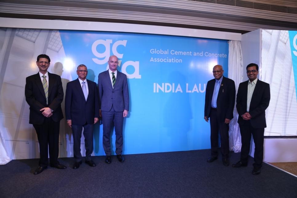 L-R: Jamshed Cooper, KK Maheshwari, Benjamin Sporton, V Suresh and Kaustubh Phadke.