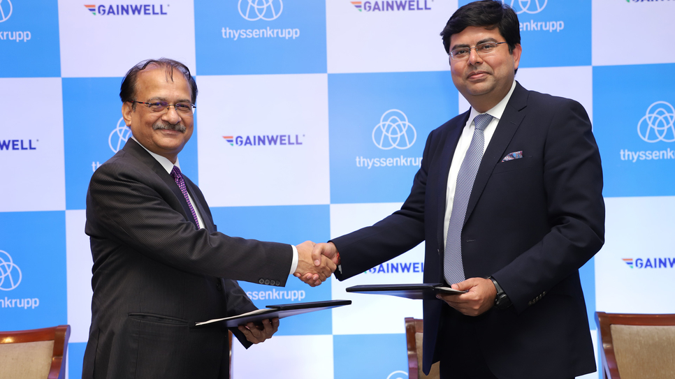 Chaturvedi and Vivek Bhatia signed a distribution agreement for sales and services of aggregate crushing and screening equipment/ plants in North, East and North East regions of India.