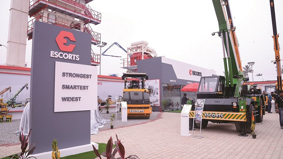 Faridabad, Farm equipment, Construction equipment, Escorts, Nikhil Nanda, Backhoe loaders, Pick-n-carry cranes, Compactors, Cranes, Japan, Aerial work platforms, Tadano