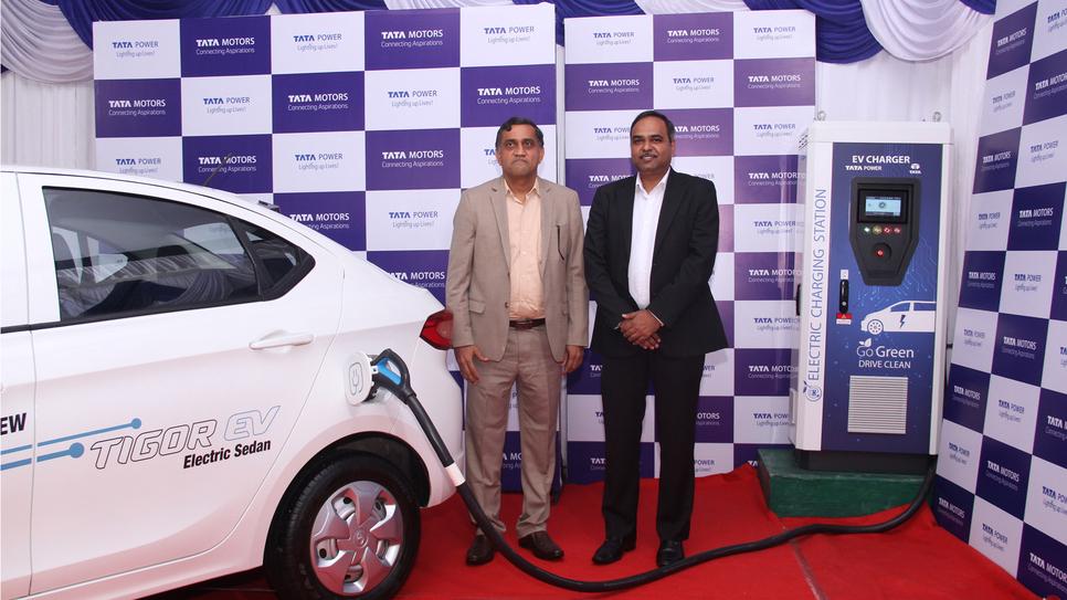 Tata Power, Tata Motors, Fast charging stations, Mumbai, Delhi, Pune, Bangalore, Hyderabad, Tata Group, Bharat Standard, Electric vehicle, Praveer Sinha, Green technology solutions, Guenter Butschek, HPCL, IOCL, IGL