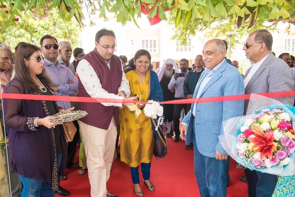 Irfan and Rezwan Razack look on as the Shantaraam's inaugurate Prestige Woodside.