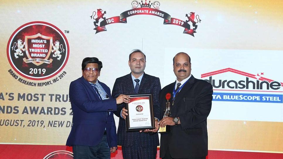 Durashine, Tata Bluescope Steel, Rahul Saxena, Colour coated sheets, MRG, India's Most Trusted Brand 2019