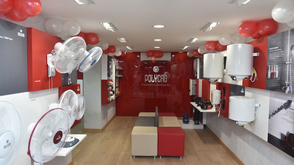 Polycab India, Wires and cables, Fast Moving Electrical Goods, Polycab Experience Centre, Lohar Chawl, Mumbai, Inder T Jaisinghani, Kalbadevi, Fan, Switches, Pumps, Geysers, Lighting, Solar, Conduit pipes, Power cables, Control cables, Instrumentation, Building wires, Industrial cables, Home automation