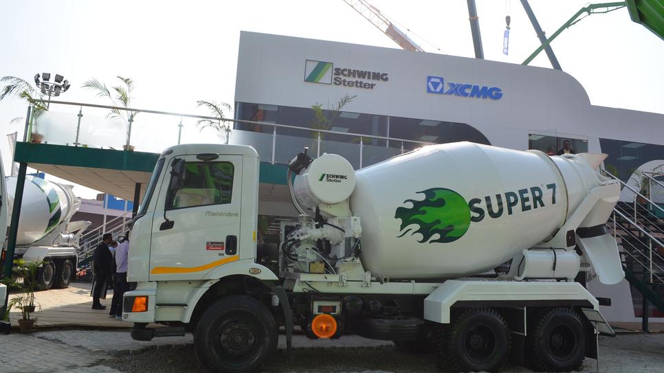 VG Sakthikumar, Schwing Stetter India, Concreting equipment, Mahindra Powerol, Concrete truck mixers, Super 7, Stetter Super Six, Pune, Mahindra Powerol 625 DI engine, IoT, Schwing Smartrack, Sachin Nijhawan