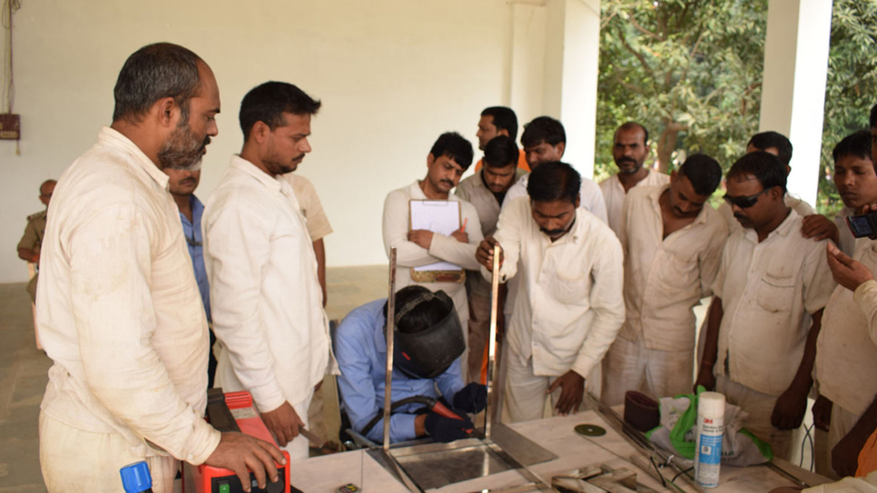 Varanasi Central Jail  Prisoners undergoing Stainless steel fabrication training by Jindal Stainless experts