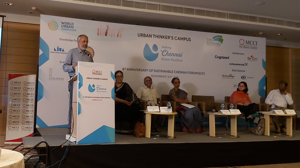 Grundfos, Chennai water positive, Grundfos India, Madras Chamber, Ranganath NK, INDO Region, Madras Chamber of Commerce & Industry, MCCI, Making Chennai Water Positive, Urban Thinkers Campus