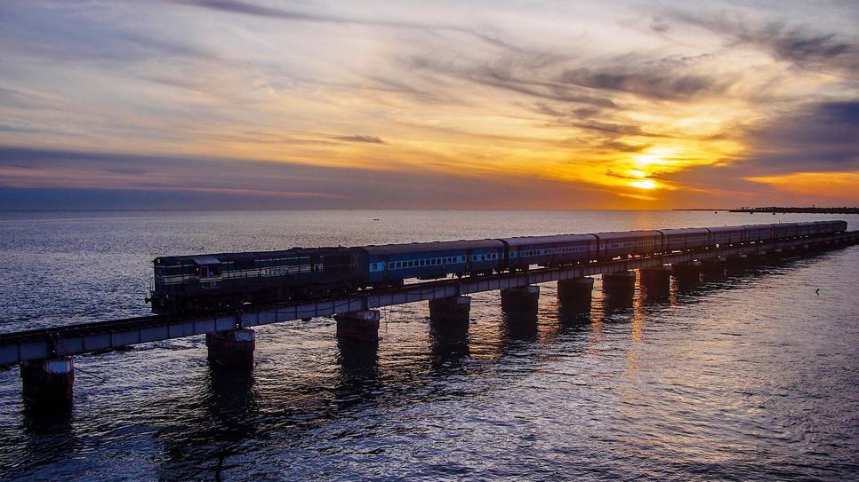 Rail Vikas Nigam, RVNL, Pamban rail bridge viaduct, Ahmedabad, Ranjit Buildcon, Piling works, Cantilever bridge, Pamban Channel