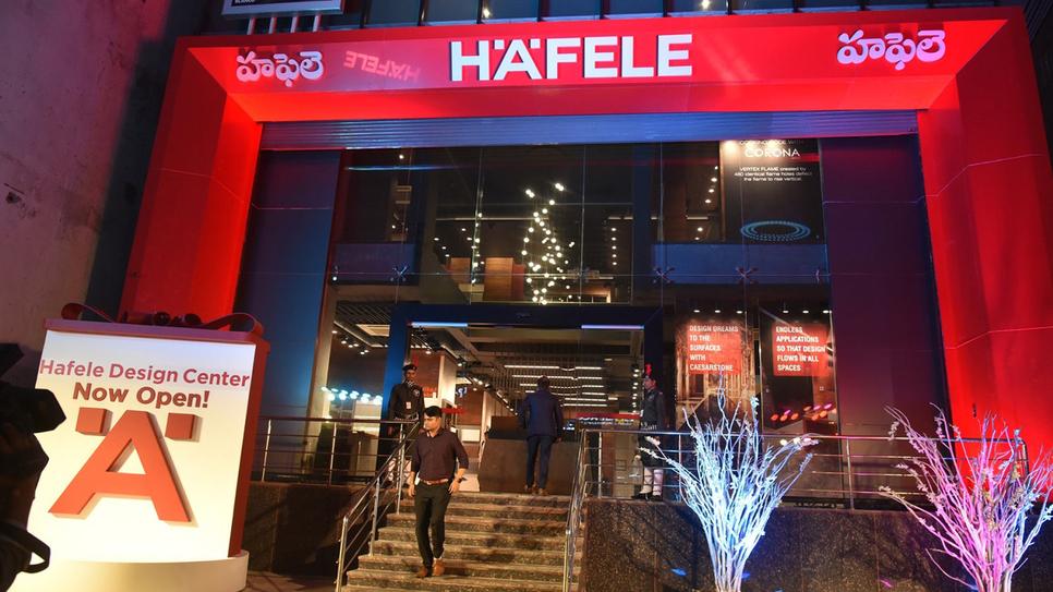 German, Hafele, Interior design products, Design centre, Hyderabad, Hafele Global, Jurgen Wolf, Architecture fittings, Space optimisation solutions, Kitchens, Lighting systems, Digital locks, Logistics centre, Mumbai, Delhi, Bangalore, Kolkata, Colombo