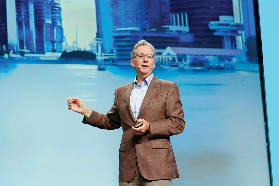 Greg Bentley Often made a point of how Bentley Systems is going digital with Digital Twin.