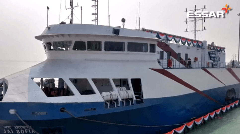 Essar Bulk, Essar Bulk Terminal, Essar Ports, Passenger ferry terminal, Hazira Port, Surat, Bandra Worli sea link, Mumbai, Hazira Passenger Ferry Terminal, Rajiv Agarwal, Ro ro  ferry, Gujarat Maritime Board, Capt Subhas Das