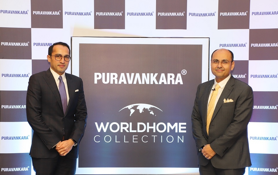 Ashish Puravankara and Abhishek Kapoor at the launch of Worldhome Collections.