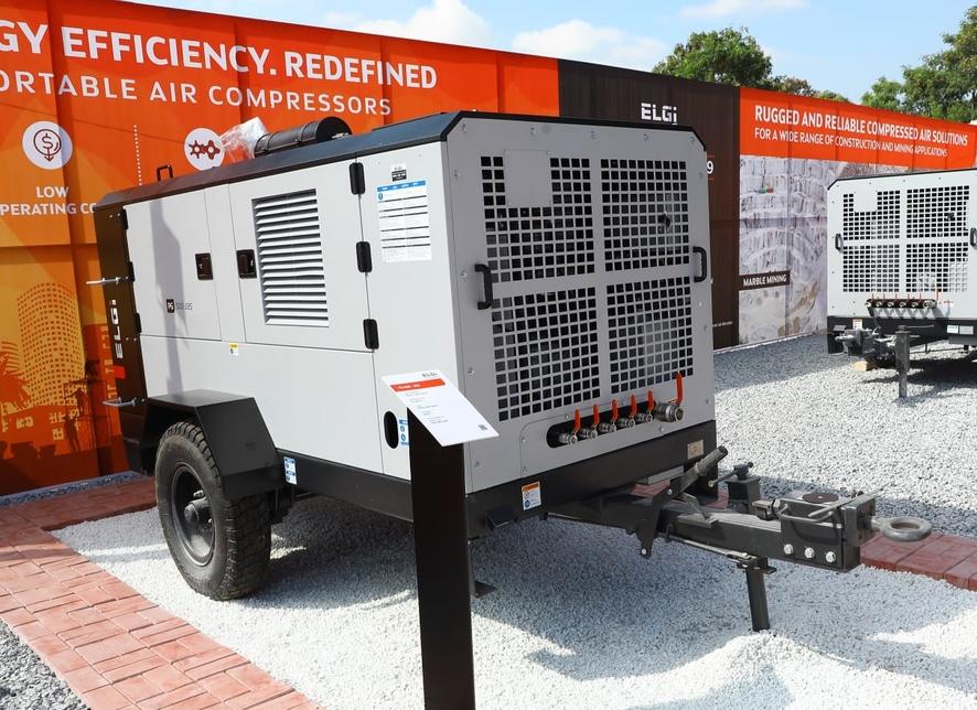 Elgi Equipments, Air-compressor, Excon 2019, Construction equipment, PG 500-185, PG 450-200, PG 90E, Ramesh Ponnuswami