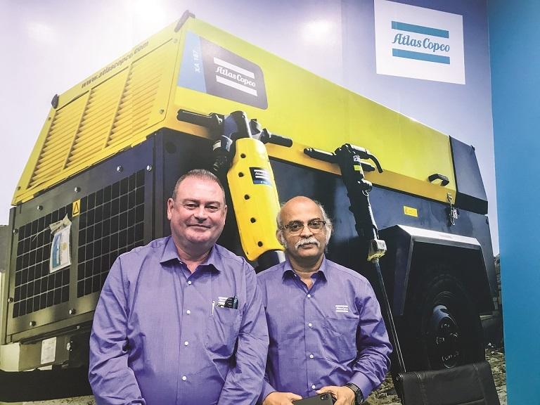 Tony Van Herbruggen, S Kumar, Atlas Copco India, Excon 2019
