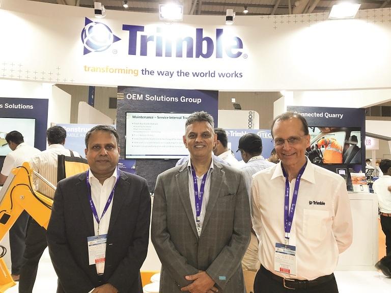 Roshan Purohit, Rajan Aiyar, Bruce Warner, Trimble India, Excon 2019