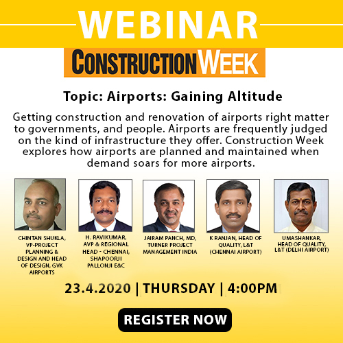 Chintan Shukla, GVK Airports, K Ranjan, Umashankar, L&T Construction, Chennai airport, Delhi airport, H Ravikumar, Shapoorji Pallonji E&C, Jairam Panch, Turner Project Management, Airports, Webinar
