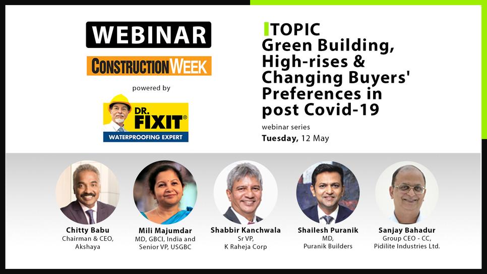 Green buildings, Mili Majumdar, GBCI, USGBC, Dr Sanjay bahadur, Pidilite, Shabbir Kanchwala, K Raheja Corp, Shailesh Puranik, Puranik Builders, T Chitty Babu, Akshaya Pvt. Ltd