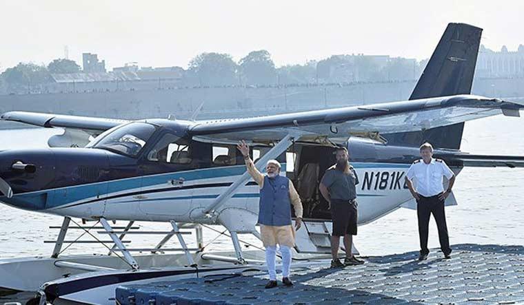 Seaplane, Statue of Unity, Gujarat, SpiceJet airline, Sabarmati, Ahmedabad, Kevadia, Gandhinagar, Union Ministry of Civil Aviation (MoCA), Airports Authority of India