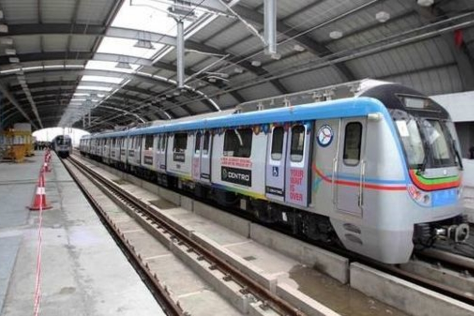 Metro services flagged off on 11 km stretch of Hyderabad Metro Rail