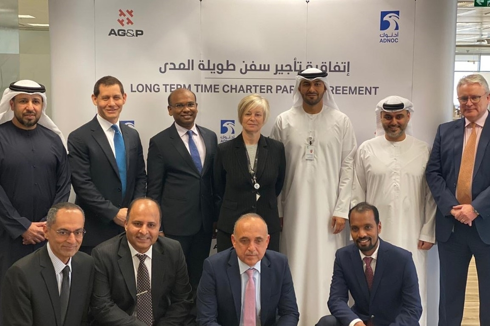 AG&P, ADNOC Logistics and Services sign agreement for long-term charter of FSU